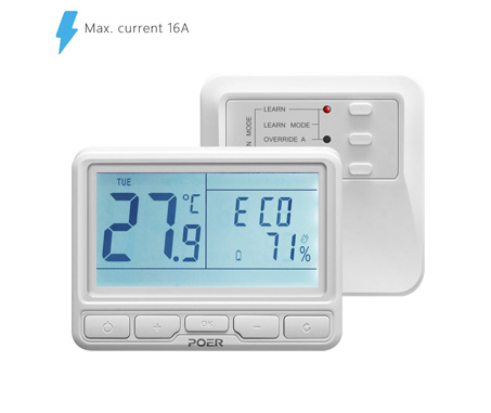 POER PTC10+PTR16 Wireless Thermostat